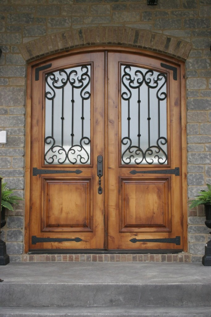 Beautiful french country style home on golf course ja for French doors front entrance