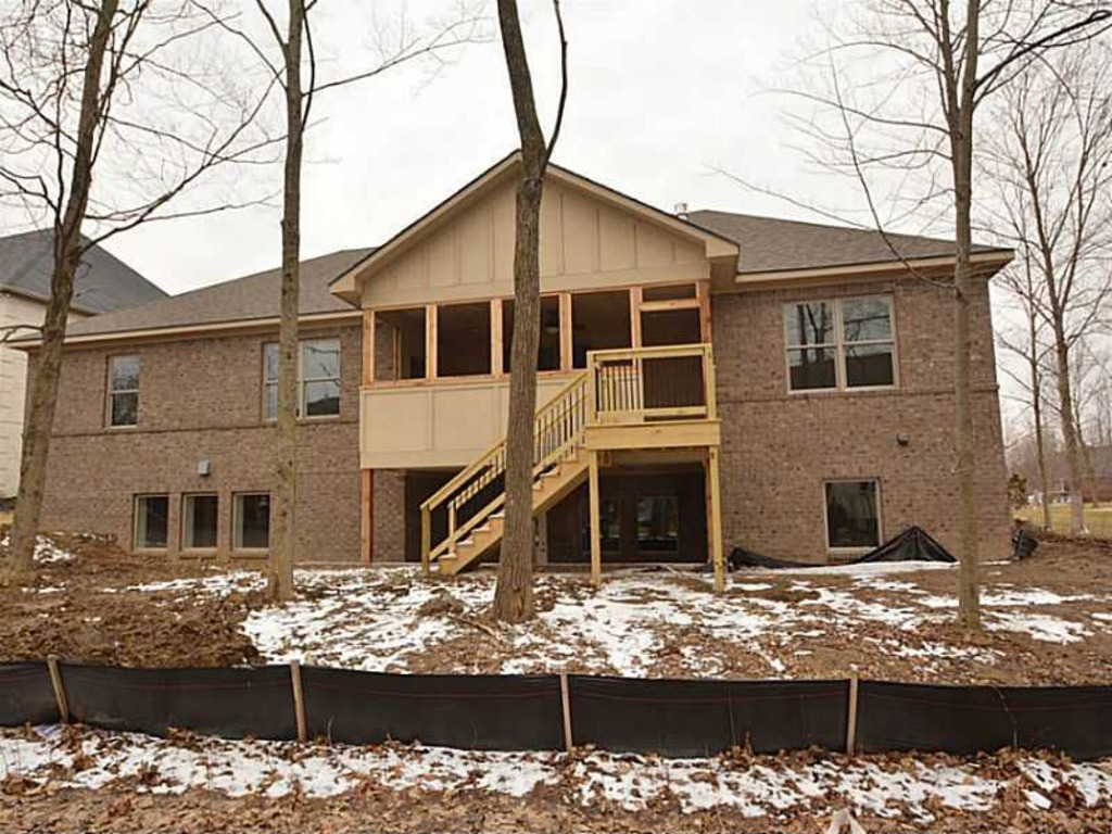 Custom ranch with walk out basement in geist ja yancey for Ranch with walkout basement